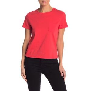 BP Crew Neck Cropped Pocket Tee Red